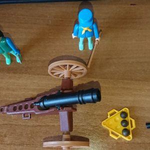 Playmobil κανόνι και στρατιώτες
