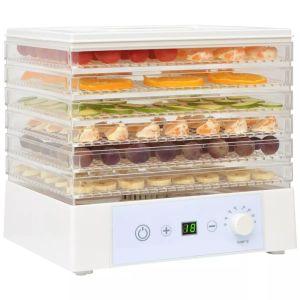 vidaXL Αποξηραντής Τροφίμων με 6 Δίσκους Λευκός 250 W- 50506