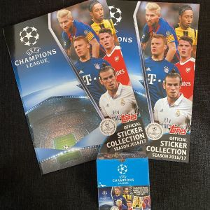 Topps champions league 2016-2017 albums + box of packets