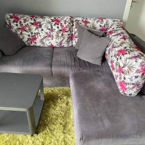 Σετ καναπέ, σκαμπό και τραπεζάκι