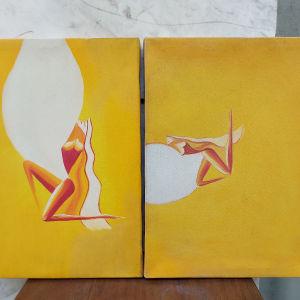Πίνακες ζωγραφικής σε καμβά 2 τεμαχ