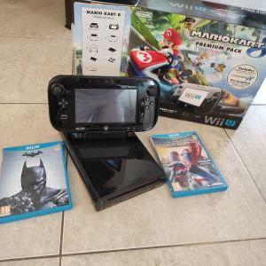 Κονσόλα Wii U +Mario Cart 8,Spiderman,Batman Arkham origins.