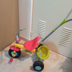 Παιδικό-Βρεφικο ποδήλατο με Τιμόνι καθοδηγησηςενηλίκου.