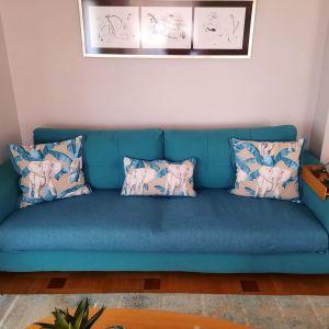 Καναπές τριθέσιος τυρκουάζ χρώμα