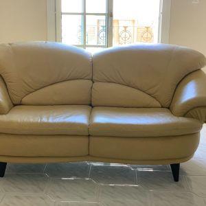 ΕΥΚΑΙΡΙΑ!3-θέσιος & 2-θέσιος δερμάτινος καναπές ΜΟΝΟ 370€