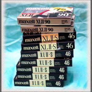 Κασέτες ήχου Χρωμίου Maxel, πακέτο 9 τεμάχια