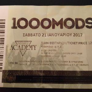1000mods απόκομμα εισιτηρίου