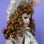 Γαλλική κούκλα πορσελάνινη bisque, πιστό αντίγραφο της περίφημης κούκλας του 19ου αιώνα Bebe Bru Jumeau