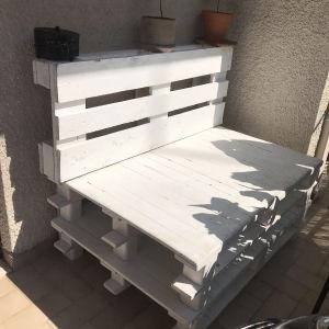 Λευκός Καναπές από Παλέτες