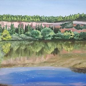 Πίνακας Ζωγραφικής - Λίμνη της Θέρμης