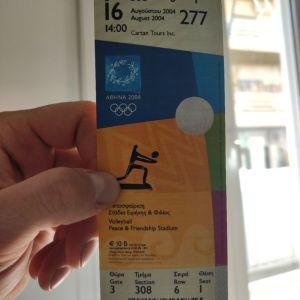 εισιτήριο των Ολυμπιακών αγώνων του 2004 στην Αθήνα!! ακέραιο!!άθικτο!!