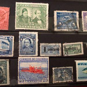 LOT - COLOMBIA  - 13 ΔΙΑΦΟΡΕΤΙΚΑ ΓΡΑΜΜΑΤΟΣΗΜΑ - 1900/1960