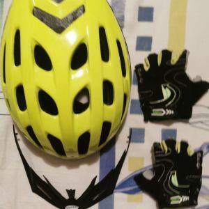Κράνος γάντια ποδηλάτου