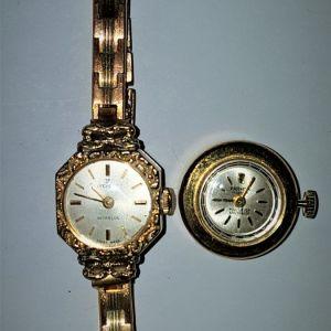 Δύο vintage μηχανικά γυναικεία ρολόγια (17 jewels - Swiss made)