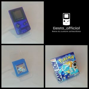 Pokemon Gameboy color Blue pack Gesto_official