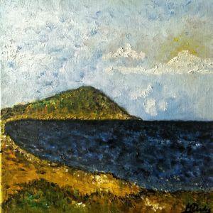 Σύγχρονη ελληνική τέχνη. Πίνακας ζωγραφικής λάδι σε καμβά. Ενυπόγραφο έργο μοντέρνας τέχνης