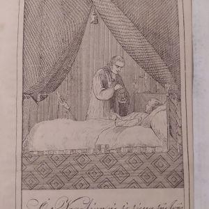 Ναπολέων εις το τέρμα της ζωής του Χαλκογραφία circa 1840