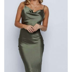 σατέν φόρεμα midi