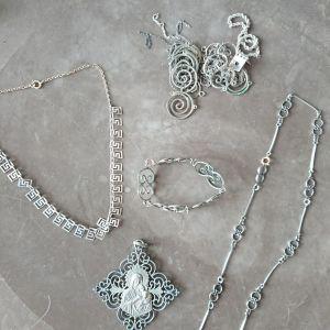 Διαφορά κοσμήματα ασημένια