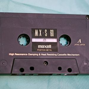 Κασέτα ήχου Maxel MX-S 60 metal (χρησιμοποιημένη) + Data tape (καινούργια)