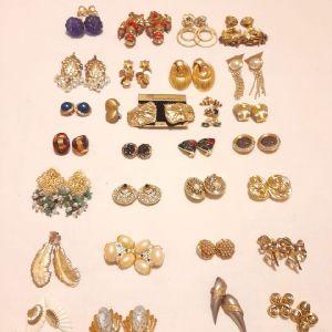 Vintage Σκουλαρίκια Χρυσού Χρώματος (31 ζευγάρια)