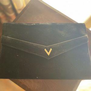 Vintage Μαύρη V Τσάντα
