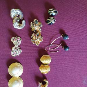 Vintage σκουλαρίκια έκαστο 10  ευρώ.