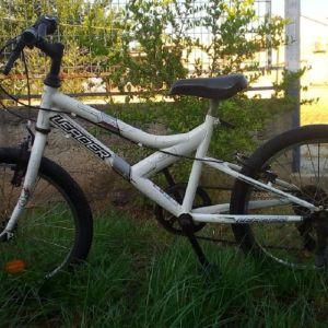 """Ποδήλατο 20"""" ,χρώματος άσπρο, με 6 ταχύτητες"""