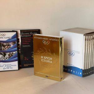 Ολυμπιακοί αγώνες -16 DVDs. Καινούρια, αχρησιμοποίητα. The OLYMPIC GAMES collection (16 DVDs)