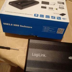 Logilink USB2.0, θήκη εξωτερικού σκληρού δίσκου IDE