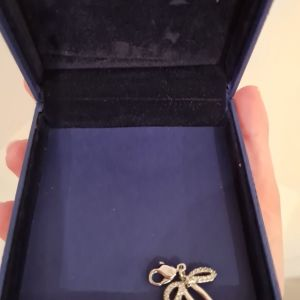 Swarovski μενταγιόν (pendant) φιόγκος με ζιρκόν