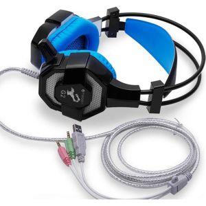 Ακουστικά ενσύρματα με μικρόφωνο, gaming, PC, με Volume, με LED φωτισμού και 2m εύκαμπτο καλώδιο