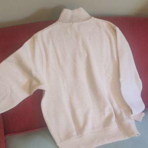 Gant Λευκό Πουλόβερ στυλ ζιβάγκο με φερμουάρ