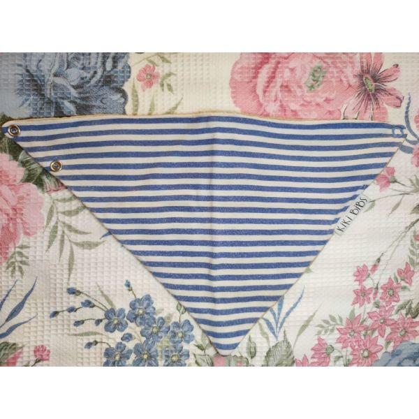 Kiki Bibs saliara-mpantana Blue Stripes