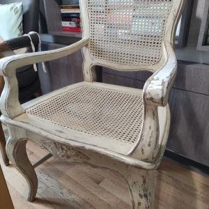 Γαλλική πολυθρόνα μασιφ ξύλο