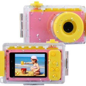 Παιδική κάμερα 8MP HD Ψηφιακή φωτογραφική μηχανή με αδιάβροχη θήκη & κάρτα SD 256M,