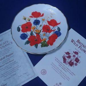 """Συλλεκτικο πιάτο τοίχου Royal Albert """" Cornfield Poppies"""" fine bone china."""