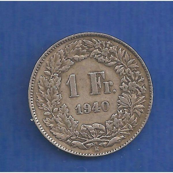 elvetia- SWISS 1 Fr 1940 asimenio