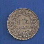 ΕΛΒΕΤΊΑ- SWISS 1 Fr 1940 ασημένιο
