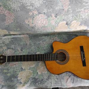 Κιθάρα τύπου κλασικής και θήκη(βαλίτσα)