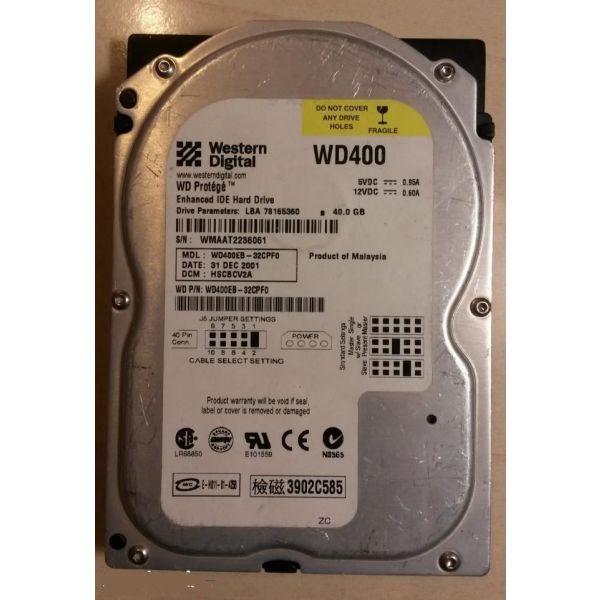 esoterikos skliros diskos Western Digital 40GB