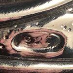 Ασημένιο 925 με σφραγίδες γνησιότητας Ιταλικό Ρολόι επιτραπέζιο σε κρυστάλλινη κορνίζα με σουέτ πίσω κάλυψη ...Αμεταχείριστο λειτουργεί άψογα!