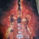 Μπαντανα - Μασκα Μοτοσικλετας Flaming Guitar