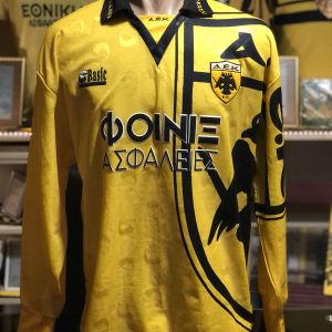 Match worn Βασίλης Τσάρτας (μπήκε αλλαγή) Πανιώνιος ΑΕΚ 1993-94