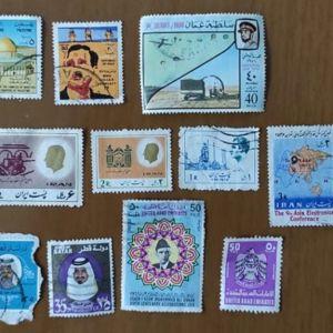 Γραμματόσημα από Ιράκ Ιράν Κατάρ Αραβικά Εμιράτα Ομάν Μπαγκλαντές 13 τεμάχια Άριστη Κατάσταση