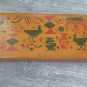 ξύλινη κασετίνα 21,5x2,5x8,5cm