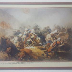 Κάδρο - αντιγραφή πίνακα της Εθνικής Πινακοθήκης με σκηνή από την Επανάσταση του 1821 (Σουλώτισσες που πολεμούν)