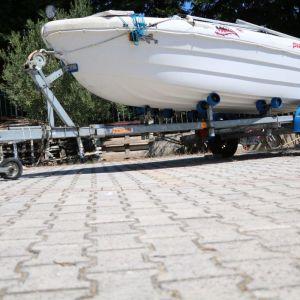 ΤΡΕΙΛΕΡ Βαρκας Neptun N7-17 navy μεταχειρισμενο, 4 ετων, σε αριστη κατασταση