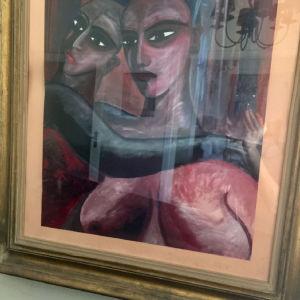 πίνακας ζωγραφικής σε κορνίζα υψος: 95εκ φάρδος: 76εκ