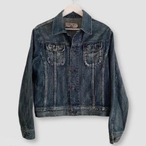 Τζιν jacket μπλε με λεπτομέρειες M!